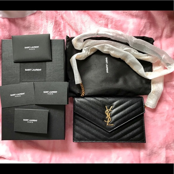 YSL Envelope Chain Wallet. Listing Price   1080 bad763c02a6ae